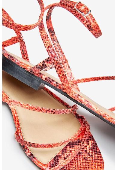 NEXT Sandale de piele ecologica cu barete multiple Femei