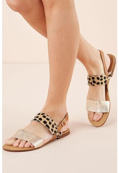 NEXT Sandale slingback de piele si piele cu par scurt Femei