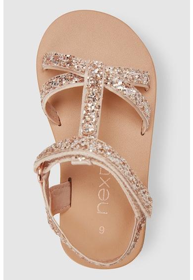 NEXT Sandale cu velcro si aspect stralucitor Fete