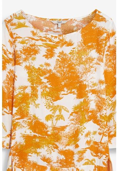 NEXT Bluza cu imprimeu tropical cu slituri laterale Femei