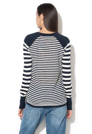 G-Star Raw Linus csíkos gyapjú- és lenvászon pulóver női