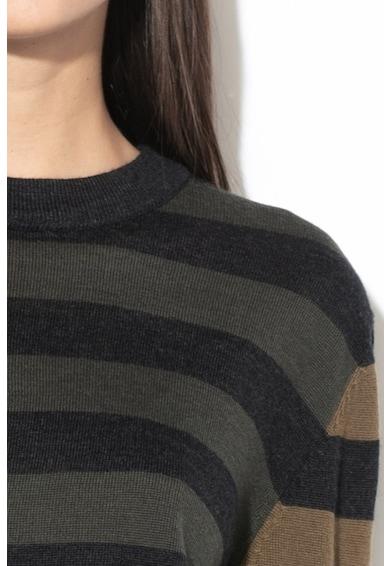 G-Star Raw Asym csíkos merinógyapjú pulóver női