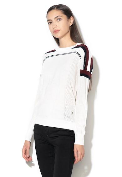G-Star Raw Siva csíkor kötött merinógyapjú-tartalmú pulóver női