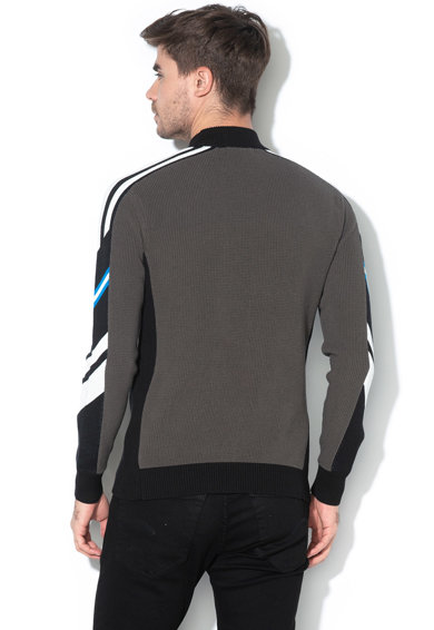 G-Star Raw Axler organikuspamut pulóver csíkos részletekkel férfi