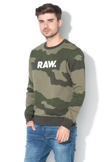 G-Star Raw Bluza sport cu model grafic si model camuflaj Barbati