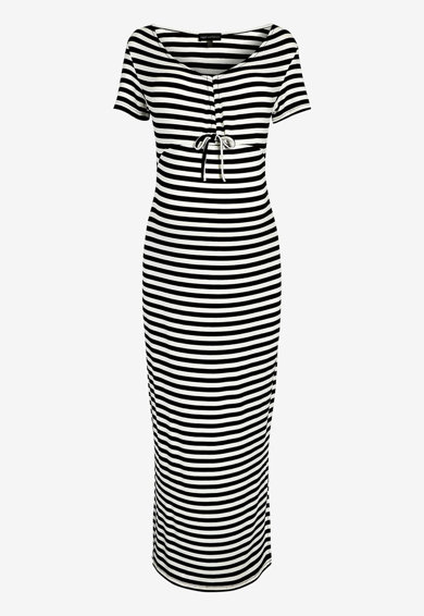 9c6c20f48e Csíkos kismama ruha oldalhasítékokkal - NEXT (911014-BLACK)