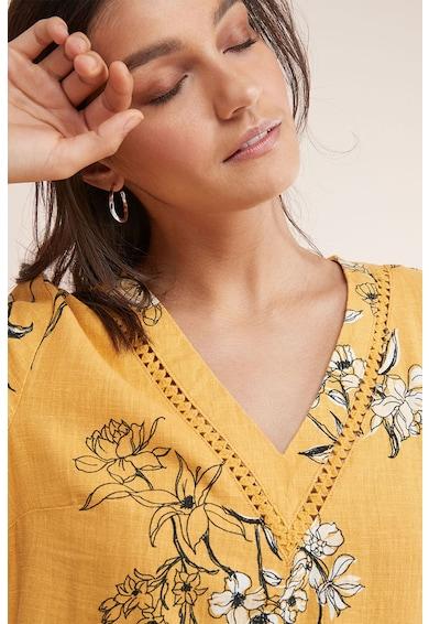 NEXT Rochie din amestec de in, cu model floral Femei