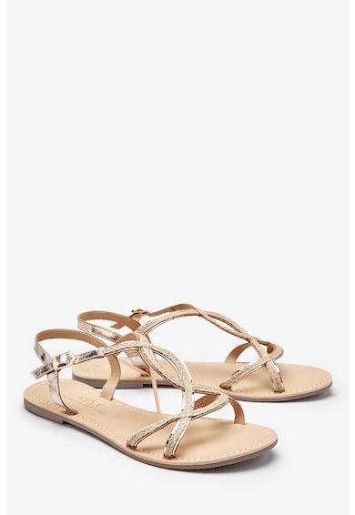 NEXT Кожени сандали с метализирани детайли Жени