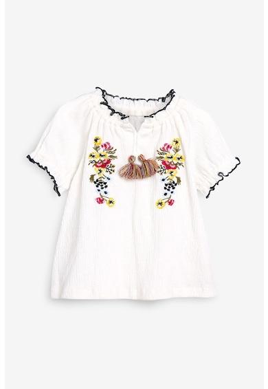 NEXT Bluza cu maneci scurte si broderie florala Fete