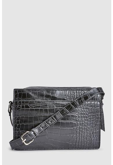 NEXT Krokodilbőr hatású keresztpántos táska női