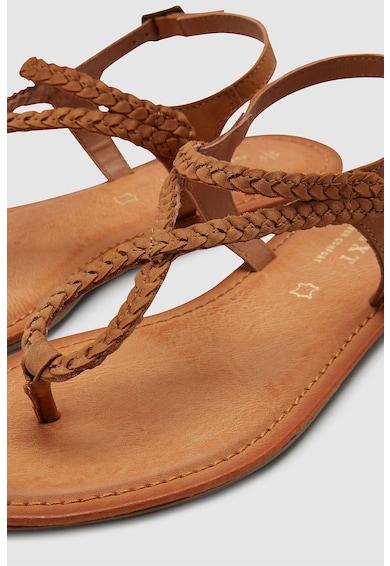NEXT Sandale de piele intoarsa, cu bareta separatoare Femei
