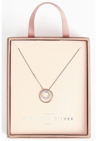 NEXT Sterling ezüst nyaklánc cirkóniával díszített medállal női
