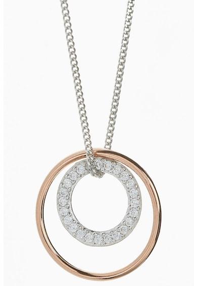 NEXT Colier de argint veritabil cu pandantiv decorat cu zirconia Femei
