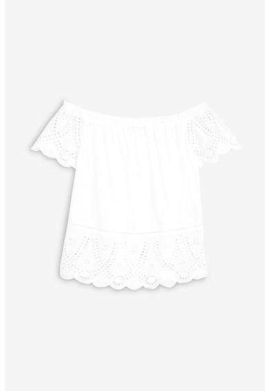 NEXT Bluza cu decolteu pe umeri si dantela crosetata Femei
