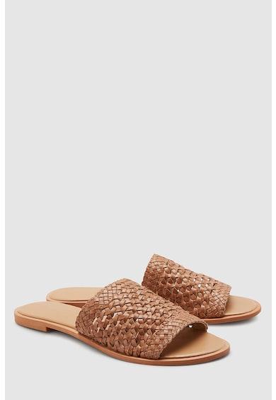 NEXT Papuci de piele cu aspect tesut Femei