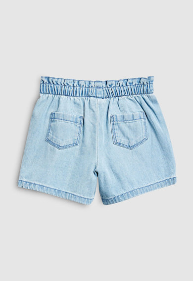 NEXT Pantaloni scurti din denim, cu aplicatie cu funda Fete