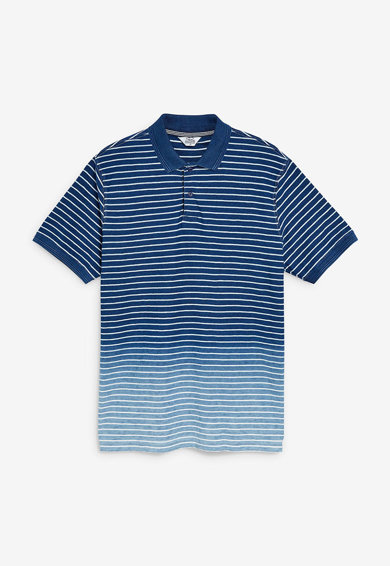 NEXT Regular fit galléros póló színátmenetes hatással férfi