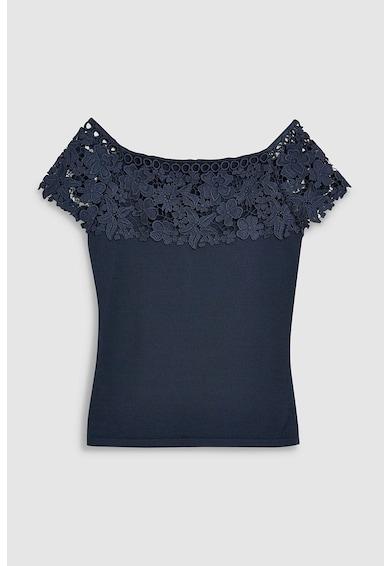 NEXT Bluza cu decolteu barcuta si aplicatii de dantela Femei