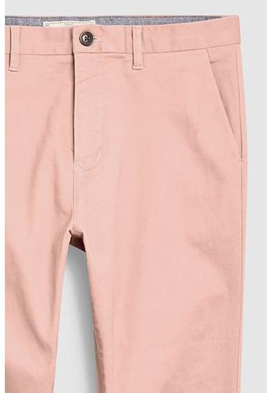 NEXT Pantaloni chino slim fit din material elastic Barbati