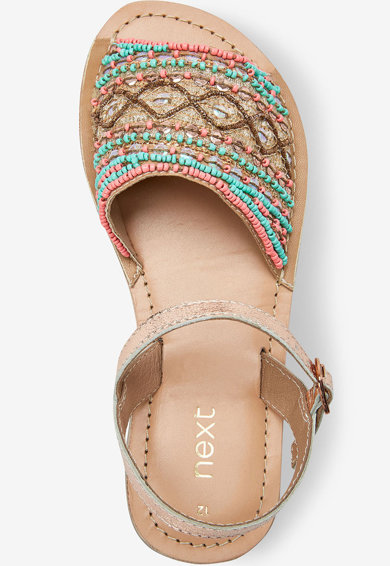 NEXT Sandale slingback cu margele Fete