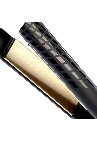 BaByliss Placa de indreptat parul  Creative Gold , 35 x 110mm, 3 trepte temperatura, Invelis Ceramic, Negru Femei