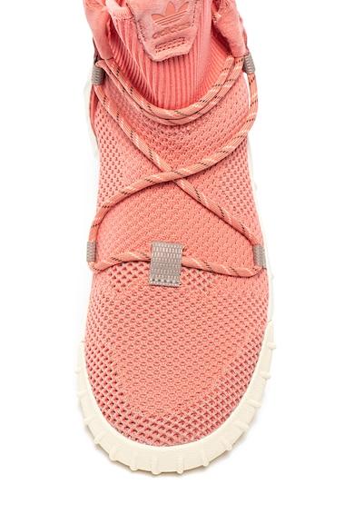 Adidas ORIGINALS Pantofi sport mid-high slip-on cu insertii de piele intoarsaTubular X 2.0 Femei
