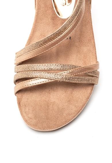 Tamaris Sandale de piele ecologica cu barete multiple Femei