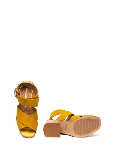Scotch & Soda Sandale de piele intoarsa cu toc masiv Haze Femei