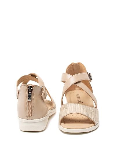 Caprice Sandale de piele, cu barete multiple Femei