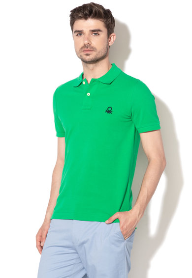 United Colors of Benetton Tricou polo muscle fit cu logo brodat Barbati
