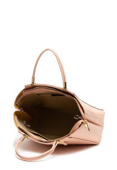 Chiara Canotti Bőr tote fazonú táska levehető pánttal női