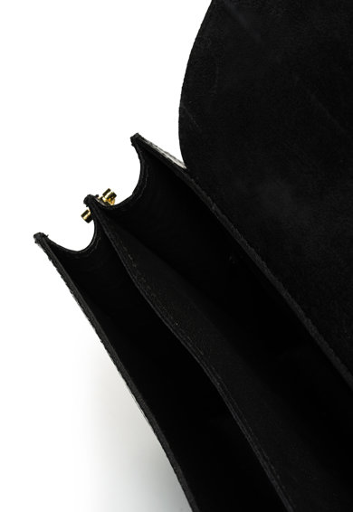 Chiara Canotti Bőr keresztpántos táska hüllőbőr hatású mintával női