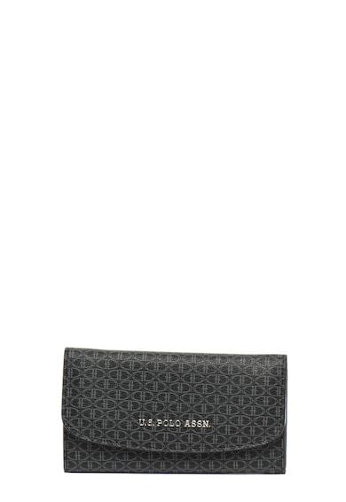 U.S. Polo Assn. Portofel de piele ecologicca, cu model logo Femei