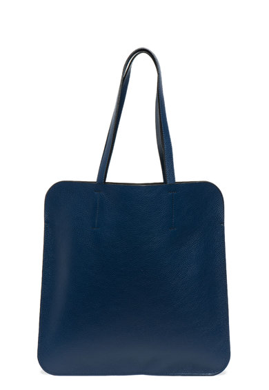 Antonia Moretti Кожена шопинг чанта с дизайн 2 в 1 Жени
