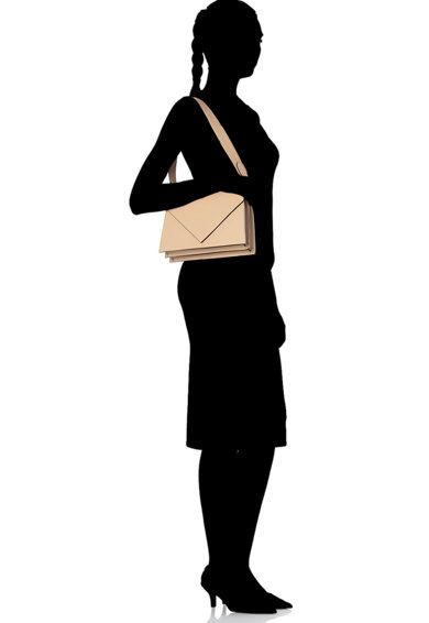 Antonia Moretti Geanta crossbody de piele, cu bareta detasabila Femei