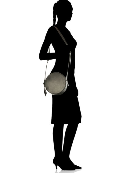 Antonia Moretti Geanta crossbody rotunda, de piele Femei