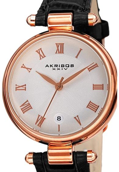 AKRIBOS XXIV Ceas analog cu cadran cu model guilloche Femei