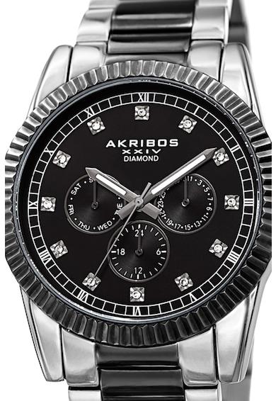 AKRIBOS XXIV Ceas decorat cu 12 diamante Barbati