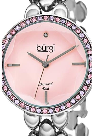 BURGI Ceas decorat cu cristale Swarovski si un diamant Femei