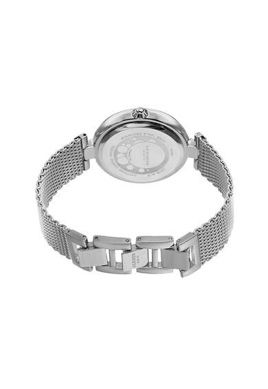 AKRIBOS XXIV Ceas din aliaj cu cadran si coroana decorate cu cristale Femei