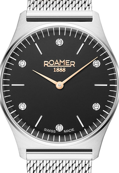 Roamer of Switzerland Ceas rotund decorat cu zirconia Femei