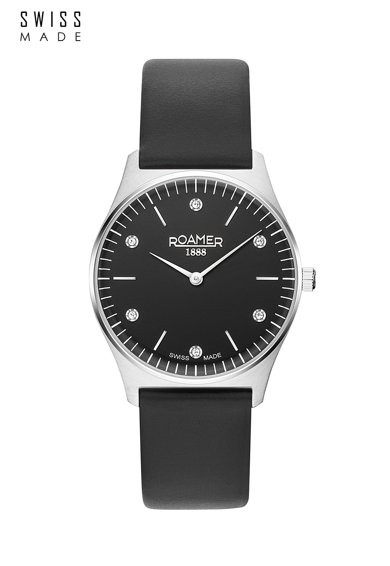 Roamer of Switzerland Ceas analog rotund, decorat cu zirconia Femei