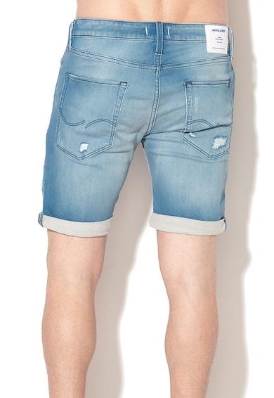 Jack&Jones Rick Regular Fit rövid farmernadrág szaggatott részletekkel férfi