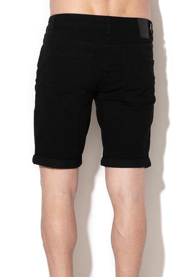 Only & sons Pantaloni scurti din denim, foarte elastici, cu terminatii rasucite Ply Barbati