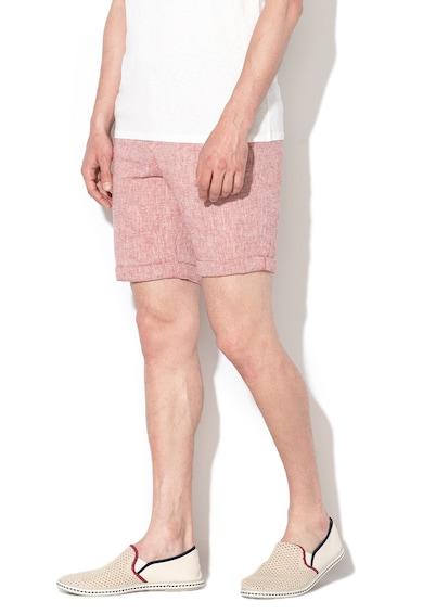 Selected Homme Pantaloni scurti din amestec de in, cu croiala dreapta Paris Barbati