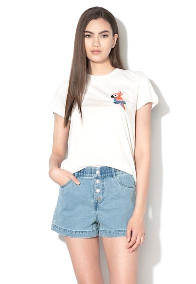 Vero Moda Tricou din bumbac cu broderie Francis Femei