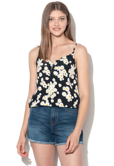 Only Top cu imprimeu floral si garnituri valurite Daisy Femei