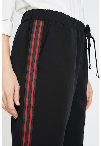 KOTON Pantaloni slim fit cu dungi in partea laterala Femei