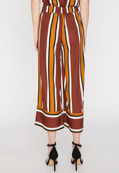 KOTON Раиран панталон с широк крачол Жени