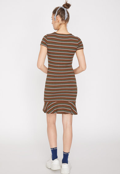 KOTON Rochie mini cu model in dungi si aspect striat Femei